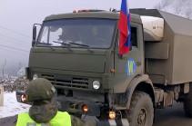 Российские миротворцы продолжают оборудование блокпостов в Лачинском коридоре (Видео)