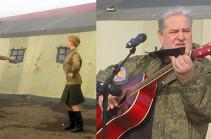 Концерт для российских миротворцев на наблюдательных постах в Лачинском коридоре (Видео)
