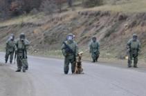 Российскими саперами в Карабахе от неразорвавшихся мин и снарядов очищено 195 гектаров территории