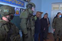 Российские миротворцы провели занятия по мерам безопасности с учениками школы №1 в городе Чартар (Видео)