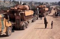 Колонна турецких войск проследовала в южные районы сирийской провинции Идлиб