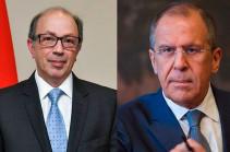 Armenian, Russian FMs hold phone conversation