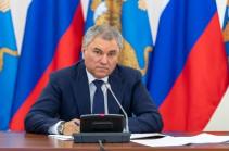 Володин назвал урегулирование ситуации в Карабахе одним из важнейших решений Путина