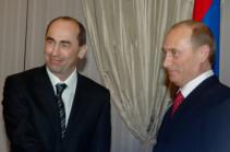 Владимир Путин поздравил Роберта Кочаряна с наступающими праздниками Нового года и Рождества