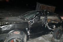 Электропоезд Ереван-Ерасх столкнулся с оказавшимся на путях легковым автомобилем