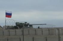 Несение службы российскими миротворцами на наблюдательном посту в населенном пункте Мардакерт