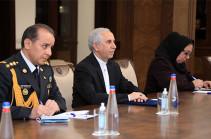 Armenia's DM meets Iran's ambassador