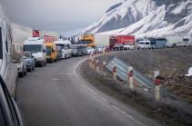Ստեփանծմինդա-Լարս ավտոճանապարհը փակ է բոլոր տեսակի տրանսպորտային միջոցների համար. ռուսական կողմում կուտակված է 550 բեռնատար