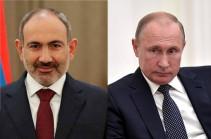 Пашинян позвонил Путину, обсудили ситуацию в Армении