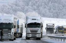 Ստեփանծմինդա-Լարս ավտոճանապարհը բաց է բոլոր տեսակի տրանսպորտային միջոցների համար․ ռուսական կողմում կուտակված է 560 բեռնատար