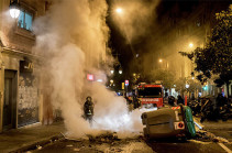 В Каталонии на акции в поддержку рэпера задержали семь человек