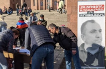 Բաղրամյան պողոտայում ստորագրահավաք է սկսվել քաղբանտարկյալ Արա Սաղաթելյանին ազատ արձակելու պահանջով (Լուսանկարներ)