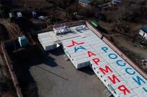 Լեռնային Ղարաբաղում ռուս խաղաղապահների համար շահագործման է հանձնվել բլոկ-մոդուլային ևս 4 ավան (Տեսանյութ)