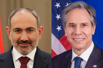 Armenia's PM holds phone conversation with U.S. Secretary of State Antony J. Blinken