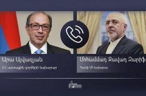 Ара Айвазян провел телефонный разговор с главой МИД Ирана Мохаммадом Джавадом Зарифом