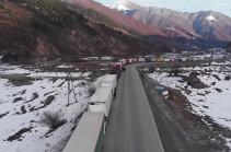 МЧС Армении: Дорога Степанцминда – Ларс закрыта для грузовых автомобилей