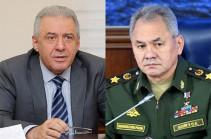Главы Минобороны Армении и России обсудили мероприятия по безопасности в Сюникской области