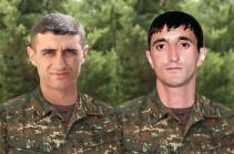Нареку Ованнисяну и Товмасу Товмасяну посмертно присвоено высшее звание «Герой Арцаха»