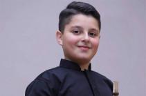 13-ամյա դուդուկահար Նարեկ Խանզադյանը միջազգային մրցույթում արժանացել է 1-ին մրցանակի
