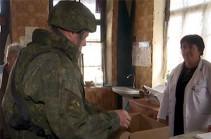 Российские миротворцы доставили гуманитарный груз жителям населенного пункта Пирджавал в Нагорном Карабахе