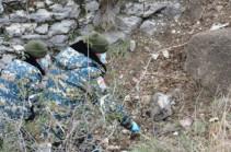 Поиск тел погибших военнослужащих в южном крыле Кашатагского района вчера не дал  результатов