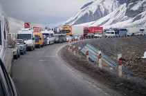 Ստեփանծմինդա-Լարս ավտոճանապարհը բաց է. ռուսական կողմում կուտակված է շուրջ 420 բեռնատար