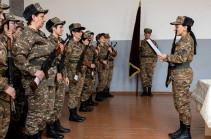 Զորամասերից մեկում անցկացվել է կին զինծառայողների երդման հանդիսավոր արարողություն (Լուսանկարներ)