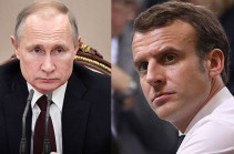 Putin, Macron agree over concrete initiatives to settle Nagorno Karabakh issue