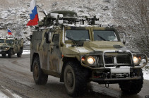 Vehicle with Russian peacekeepers explodes on mine in Artsakh, two servicemen injured