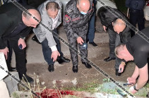 Three wounded, one stabbed in night fight in Yerevan