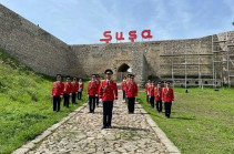 Շուշիում ադրբեջանցիները հանդիսավորությամբ նշել են Հաղթանակի 76-ամյակը. Լուսանկարներ