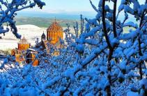 В Ширакской области выпал снег