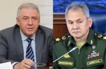 Вагаршак Арутюнян обсудил с Сергеем Шойгу обстановку на армяно-азербайджанской границе