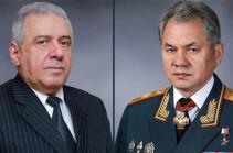 Հարությունյանն ու Շոյգուն քննարկել են հայ-ադրբեջանական սահմանային լարվածության խնդիրը և  Մոսկվայում ձեռք բերված պայմանավորվածությունների կատարման ճանապարհները