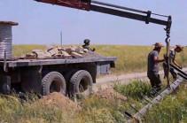 Российские миротворцы обеспечивают безопасность при проведении восстановительных работ линии электропередач в Нагорном Карабахе