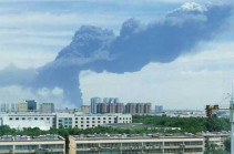 В Китае произошел пожар на крупном химзаводе