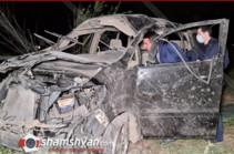 Արմավիրի մարզում ողբերգական ավտովթարի հետևանքով մահացել է գեներալ Սեյրան Սարոյանի քրոջ որդին. shamshyan.com