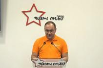 Представитель блока «Честь имею» считает реальным формирование коалиции с блоком «Армения»