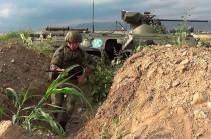 Российские миротворцы провели плановую тренировку по безопасности на наблюдательных постах в Нагорном Карабахе