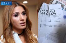 Կրկին արձանագրվել է մի տրցակ «Հայաստան» դաշինքի նշանառված քվեաթերթիկ. Գոհար Մելոյան (Լուսանկար)
