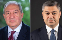 """Armenia President holds phone conversation with """"I Have the Honor"""" bloc candidate Artur Vanetsyan"""