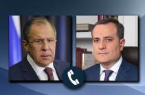 Ռուսաստանի և Ադրբեջանի ԱԳՆ ղեկավարները հեռախոսազրույցի ընթացքում քննարկել են Լեռնային Ղարաբաղի հարցը