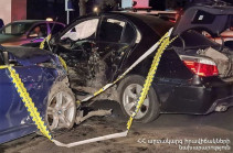 Traffic accident occurs in Yerevan with engagement of Yerevan court judge's son
