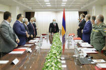 Armenia's acting PM Nikol Pashinyan chairs Security Council session