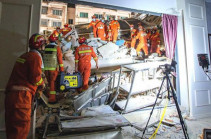 Hotel collapse in China's Suzhou kills 17, injures five
