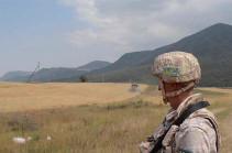 Ռուսաստանցի խաղաղապահներն ապահովում են Մարտակերտի շրջանում ցորեն հավաքող տեղի բնակիչների անվտանգությունը