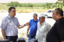 Armenia's Human Rights Defender Arman Tatoyan is in Yeraskh on fact-finding mission