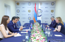 Armenian detainees should immediately be returned from Azerbaijan – Armenia Ombudsman meets EP French deputy