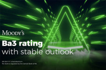 Moody's revised the Outlook on Ameriabank to Stable