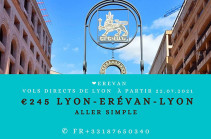 Lyon-Yerevan flights to be operated from July 22